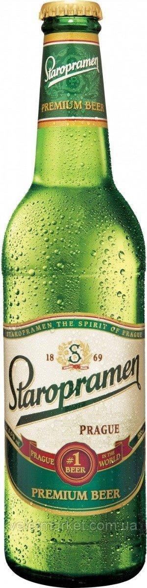 Чешское пиво Старопрамен (Staropramen 10) светлое 0,5 л