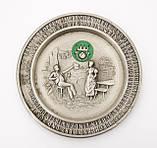Коллекционная оловянная тарелка, тарелочка, олово, Германия, 9 см, фото 5