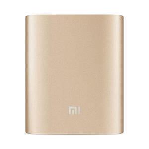 Портативная зарядка для телефона в стиле Xiaomi Power Bank 10400 mAh золото