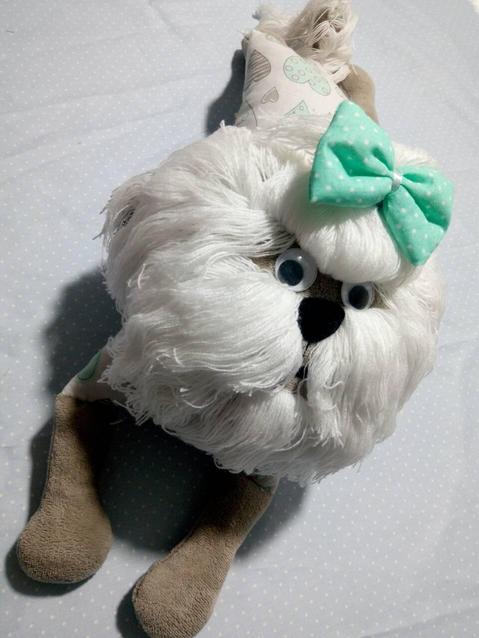 СОБАКА игрушка подушка Vikamade  Ши тцу.