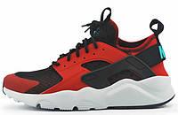 Мужские кроссовки Nike Air Huarache Ultra Black Red (найк хуарачи ультра, красные/черные)
