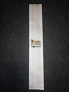 """Крафт пакет для багета белый с логотипом """"Поляна"""" 630х100х40мм."""