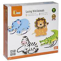 Развивающая игрушка Viga Toys Дикие животные (51326)