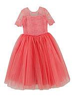 Пышное платье Ребекка (Коралловое 128-134)