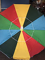 Зонт круглый 2.7 м для пляжа, торговый, садовый, с напылением и клапаном, плотная ткань, 10 спиц, чехол