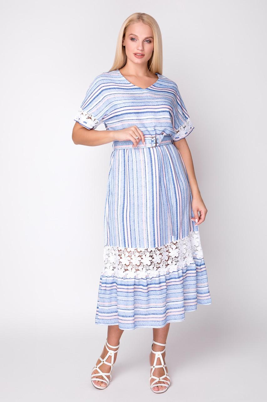 Платье Вита 50-54 голубой