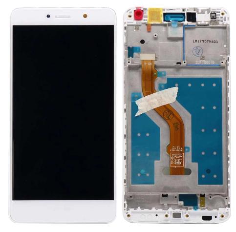 Дисплей (экран) для Huawei Y7 Prime 2017 TRT-L21A с сенсором (тачскрином) и рамкой белый Оригинал