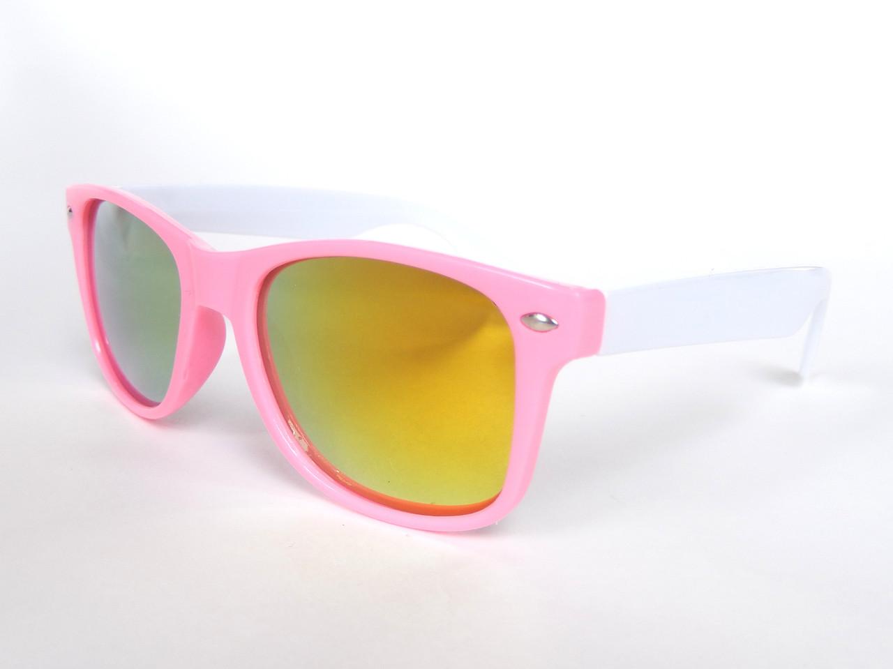 Очки детские в стиле Ray Ban pink/white