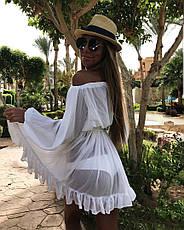Платье - туника пляжное шифоновое, фото 2