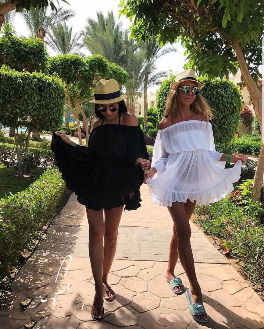 Платье - туника пляжное шифоновое