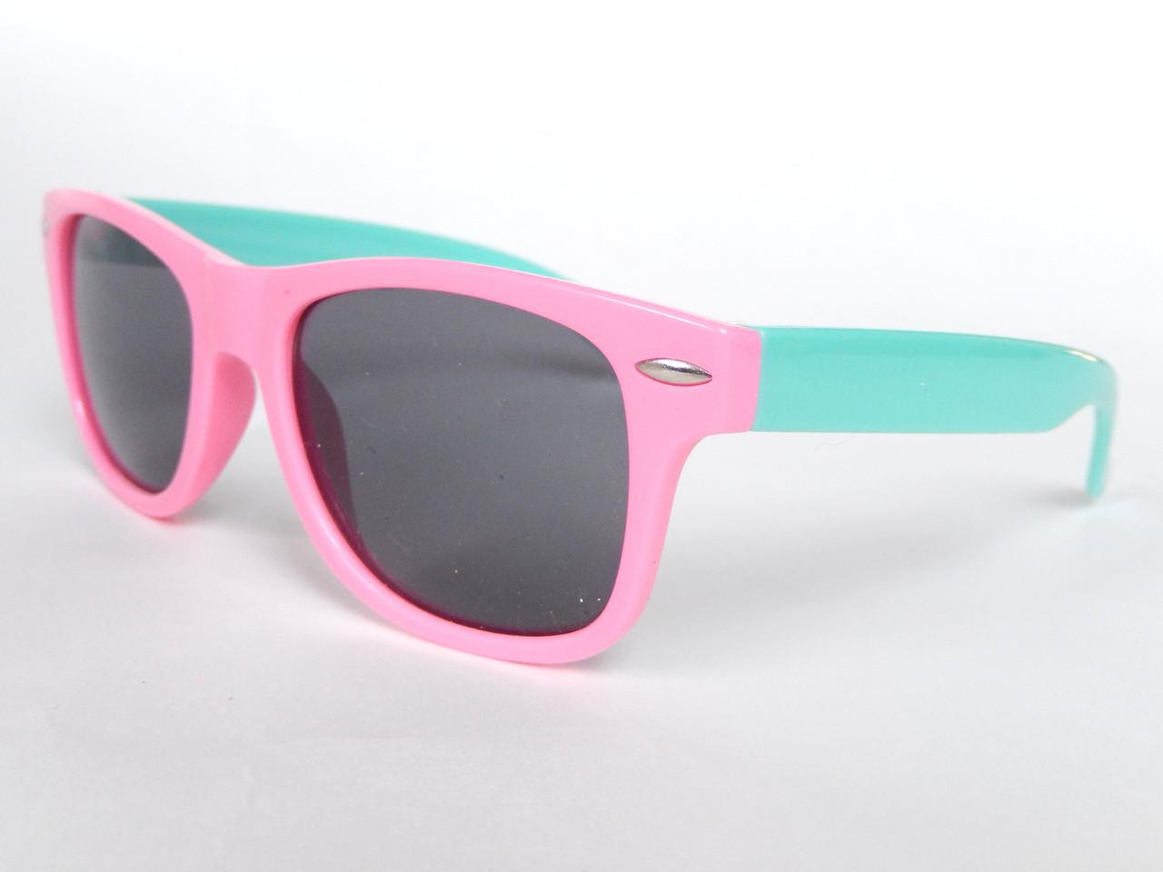 Очки детские в стиле Ray Ban pink/mint