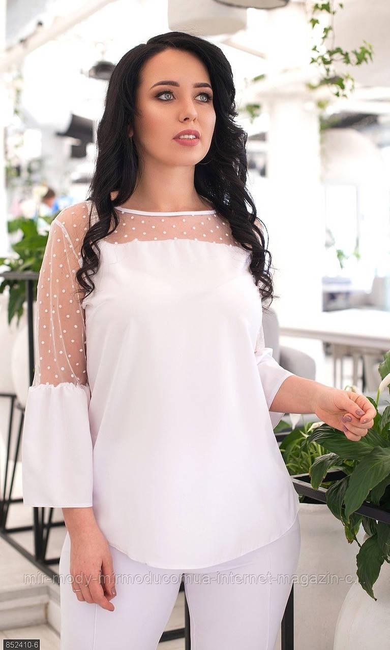 Батальная  блуза 852410-6 (6 цветов ) с 50 по 56 размер(мш)