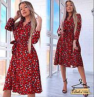 ccdbbe64a49 Женское красивое летнее платье миди с леопардовым принтом