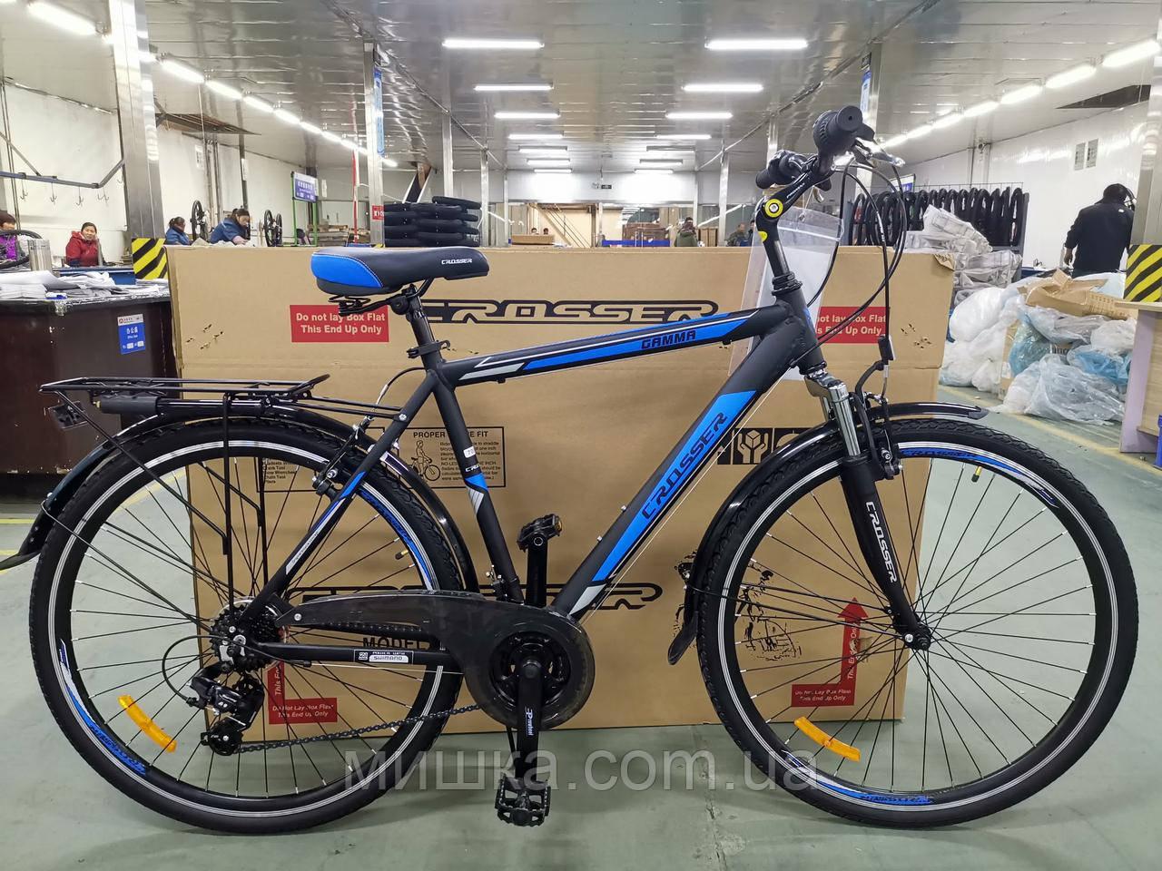 """Велосипед горный Gamma-700 28"""", черно-синий"""