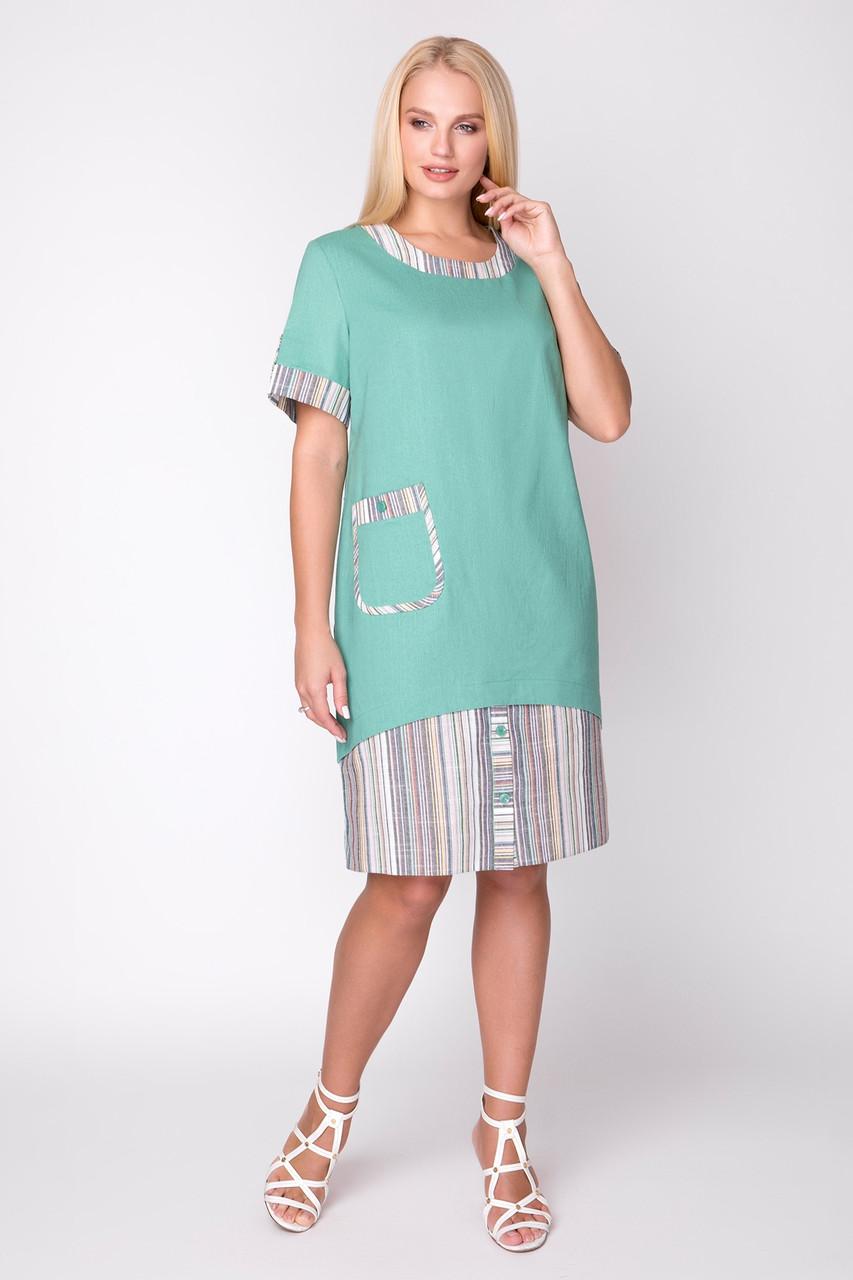 Платье Ивента 50-58 мята