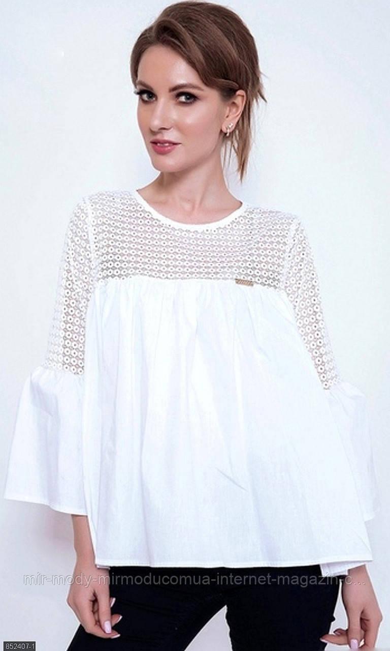 Блуза 852407-1 белый (2 цвета) с 48 по 54 размер(мш)