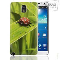 Чехол FaceCase SWAROVSKI Samsung N9000 (Note3) Ladybug