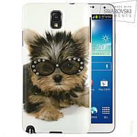 Чехол FaceCase SWAROVSKI Samsung N9000 (Note3) Rock n Dog