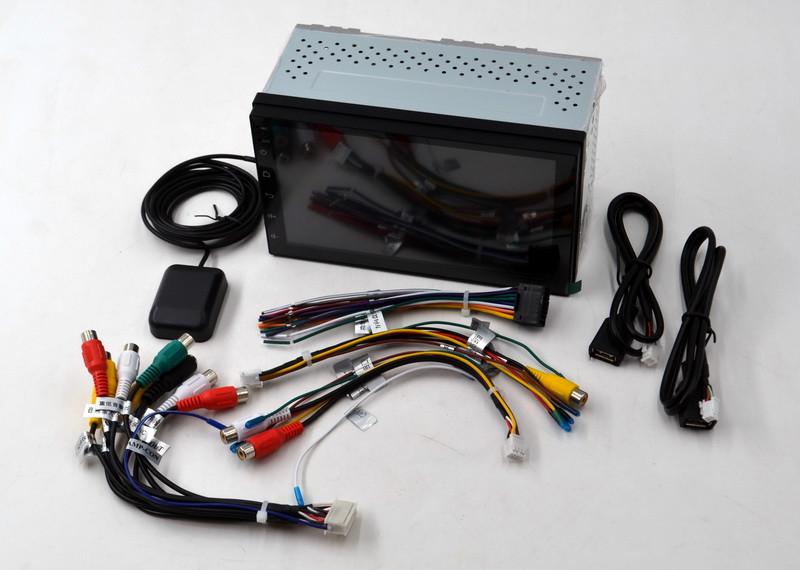 """Магнитола в машину с GPS на Android Car Player FullHD AUX MicroSD автомагнитола мультимедийная экран 7"""""""