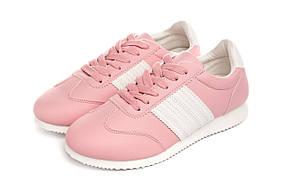 Кроссовки женские Casual classic pink-white 39, фото 2
