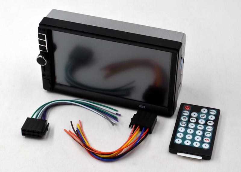 "Магнитола автомобильная 7"" экран 7003 Bluetooth AUX MicroSD автомагнитола 2 Дин"