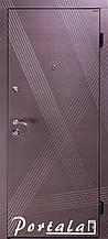 Двери квартирные, серия Стандарт, модель Диагональ, гнутый профиль, 2 контура уплотнения, 2 замка