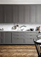 Кухня на заказ с фрезерованными фасадами графит. мдф, фото 1