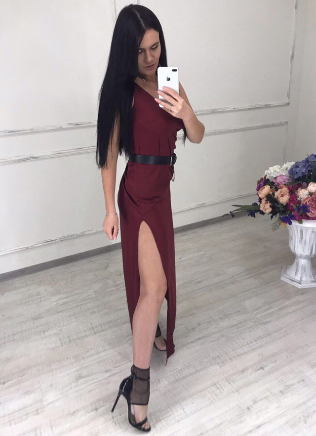 женский длинный сарафан