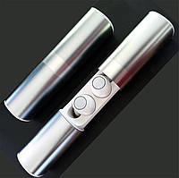 Беспроводные наушники блютуз Wi-pods S2 водонепроницаемые с зарядным чехлом Bluetooth 5.0. Белые