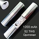 Беспроводные наушники блютуз Wi-pods S2 водонепроницаемые с зарядным чехлом Bluetooth 5.0. Белые, фото 2