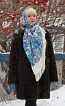 Молитва 353-2, павлопосадский платок шерстяной  с шерстяной бахромой, фото 5