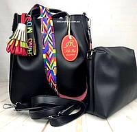 5264ec0574db Премиум класса женская сумка Alex Rai с клатчем. Кожаная сумка модный  ремень-пояс.