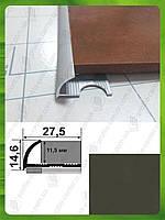 Наружный алюминиевый угол для плитки до 12 мм  L-2,7м. НАП 12 Бронза оливка (краш)
