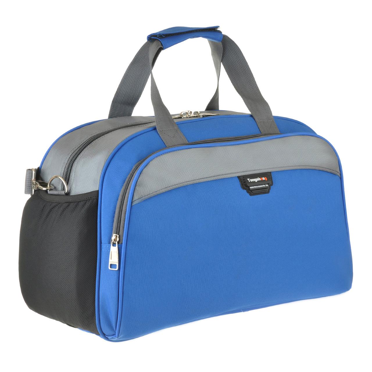 Дорожная сумка TONGSHENG голубая 49x32x22 полиэстр  кс999028гол