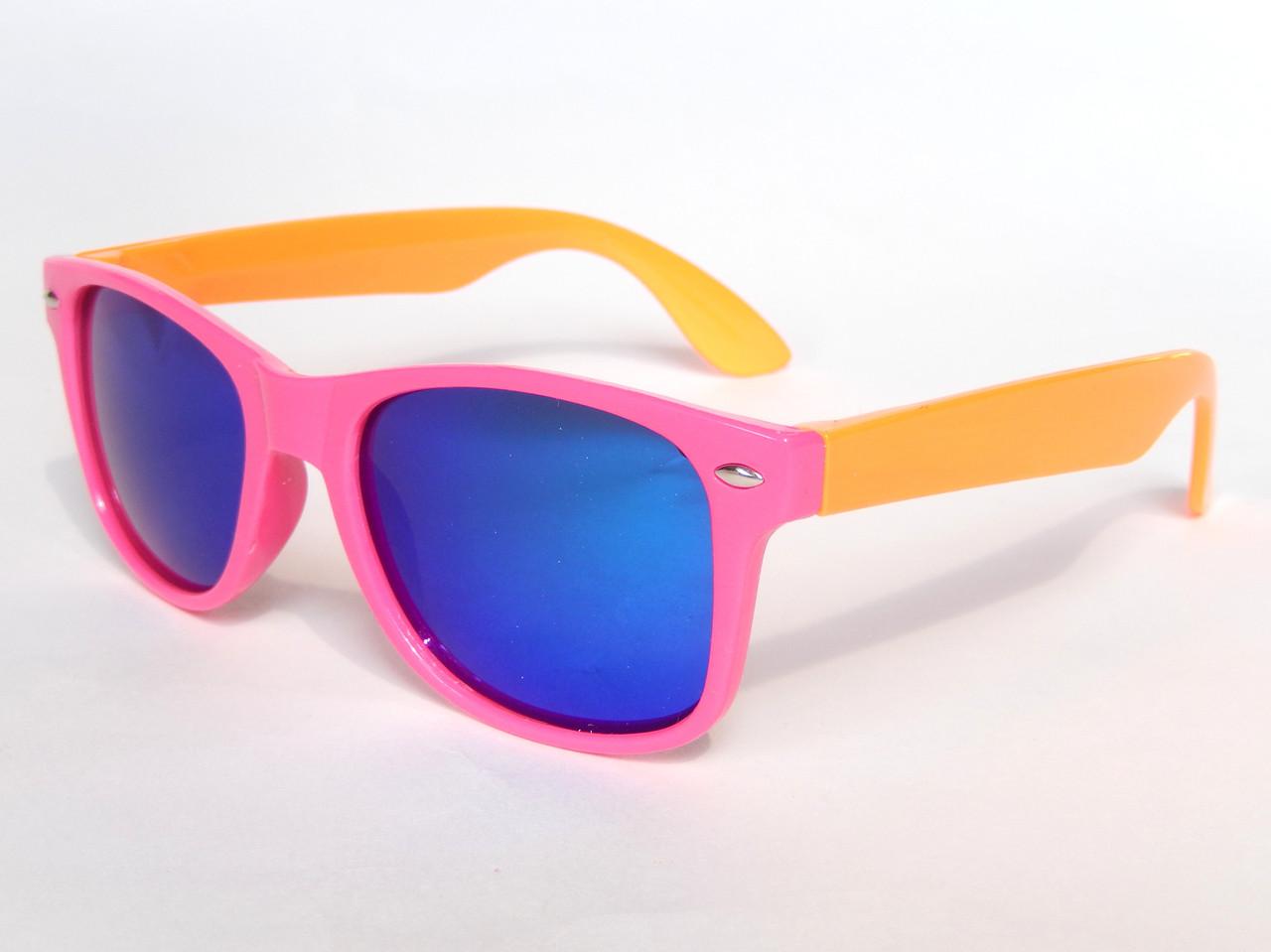 Очки детские в стиле Ray Ban pink/orange