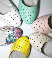 Балетки женские кожаные разноцветные