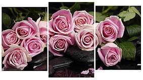 Модульная картина Декор Карпаты 100х53 см Розовые розы (M3-t28)