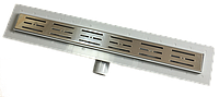 Трап NOVA 5203 70х600 с решеткой из нержавеющей стали