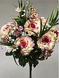 Штучні пишні квіти, 5 кольорів, 18 голів, 50см, 160/140 (ціна за 1 шт.+20 грн.), фото 3