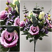 Розы с тюльпанами и орхидеями в букетах, выс. 53 см., 195/165 (цена за 1 шт. + 30 гр.)
