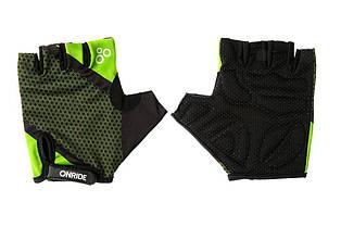Рукавички велосипедні Onride TID L Black Green