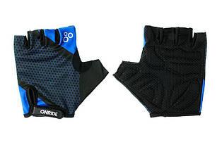 Рукавички велосипедні Onride TID L Black Blue