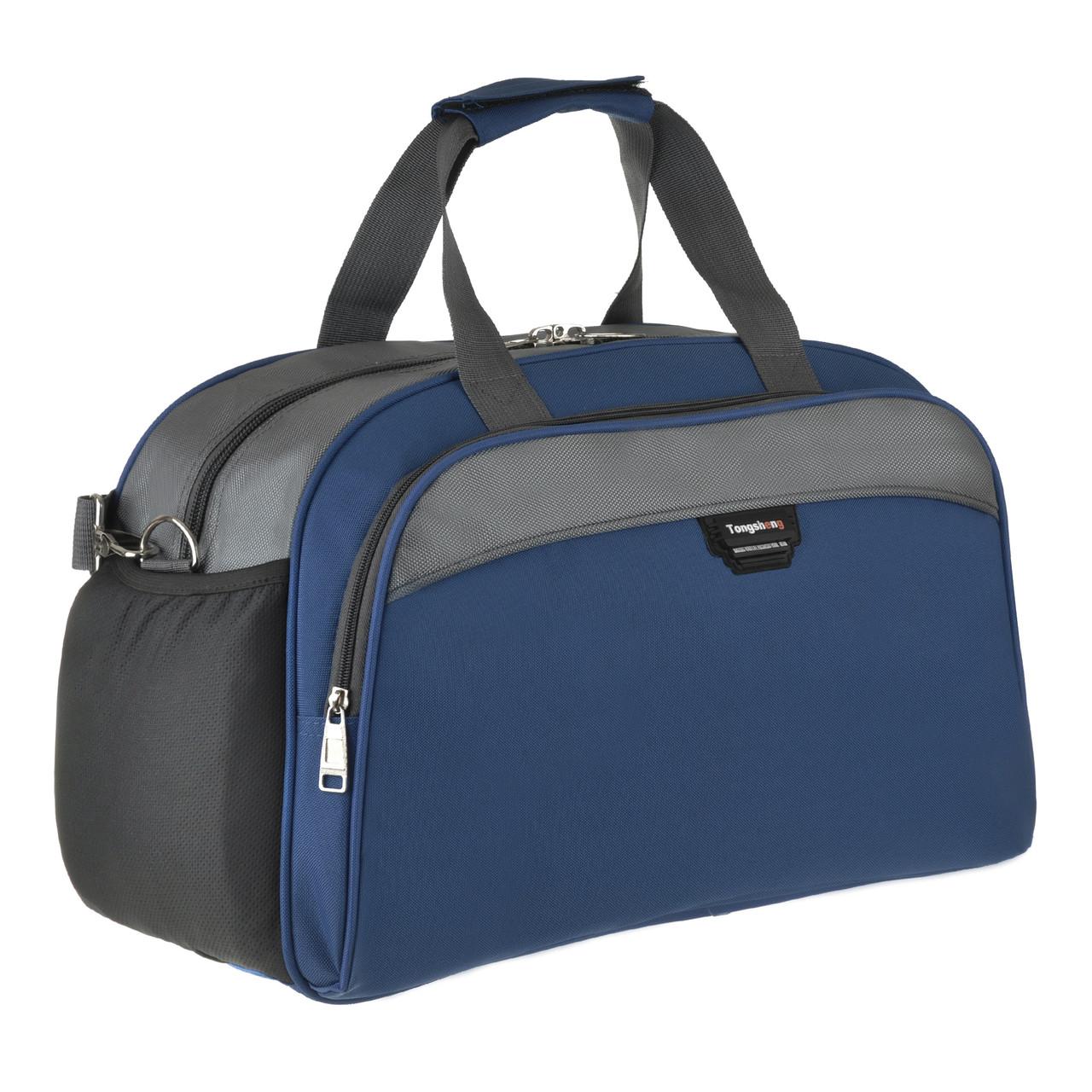 Дорожная сумка синяя TONGSHENG 49x32x22 полиэстр  кс999028син