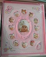 Фотоальбом 12 місяців для дівчинки