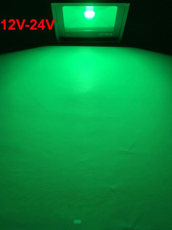 Светодиодный прожектор зеленый 10W 12-24В IP65 Код.59308