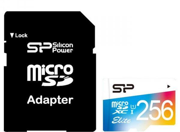 Карта памяти SiliconPower Elite Color 256Gb class 10
