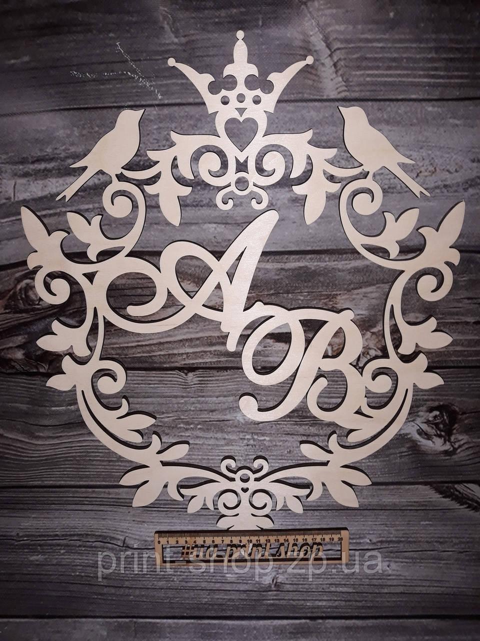 """Свадебный декор с именами. """"Венеция птицы"""""""
