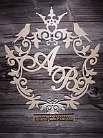 """Свадебный декор с именами. """"Венеция птицы"""", фото 1"""