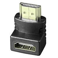 ✦Переходник Lesko HDMI-HDMI 90° универсальный угловой для монитора телевизора высокая пропускная способность