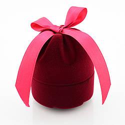 Футляр бордовый с лентой для кольца, серег 740130 размер 6*5 см